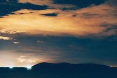 nacht sterrige hemel Royalty-vrije Stock Afbeeldingen
