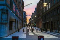 Nacht Stockholm, Zweden Royalty-vrije Stock Foto's