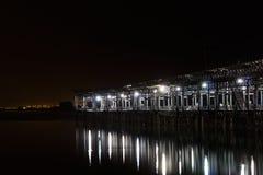 Nacht Tinto Pier royalty-vrije stock foto's