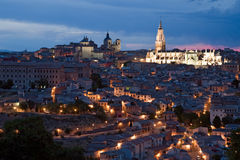 Nacht Toledo Stockbild