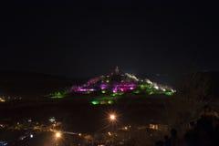 Nacht Tsarevets stock foto