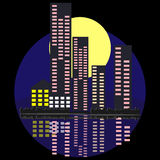 Nacht und die Stadt Lizenzfreies Stockbild