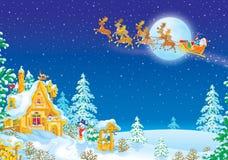 Nacht vóór Kerstmis Royalty-vrije Stock Afbeelding