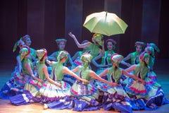 Nacht vóór van huwelijk-dans de volksdans dramaaxi sprong-Yi royalty-vrije stock foto