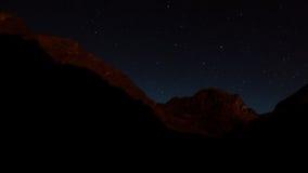 Nacht in Val di Gesso, Frankreich Stockbild