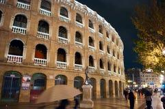 Nacht Valencia Stock Foto