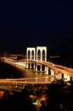 Nacht van brug royalty-vrije stock foto's