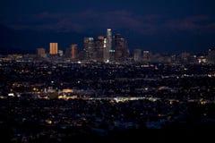 Nacht van de binnenstad 1 van Los Angeles Royalty-vrije Stock Afbeelding