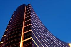 Nacht van de commerciële bouw Stock Afbeelding
