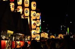 Nacht van gionfestival in Kyoto, Japan Royalty-vrije Stock Fotografie