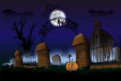 Nacht van Halloween Stock Afbeeldingen