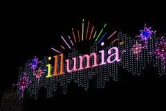 Nacht van het festivalkorea van de Illumia de Lichte Verlichting royalty-vrije stock foto's