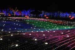 Nacht van het festivalkorea van de Illumia de Lichte Verlichting stock afbeeldingen