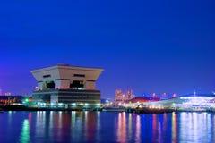 Nacht van Hokohama Royalty-vrije Stock Afbeeldingen