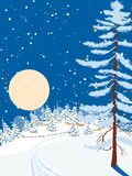 Nacht van Kerstmis royalty-vrije illustratie