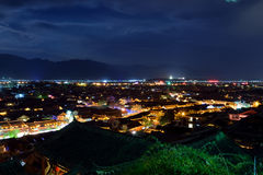 Nacht van Lijiang Stock Afbeelding