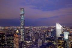 Nacht van New York Stock Foto's