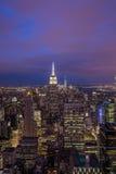 Nacht van New York Royalty-vrije Stock Foto's