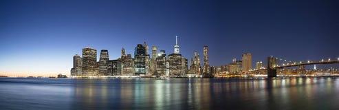 Nacht van New York Stock Afbeeldingen