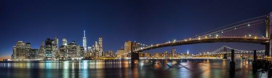 Nacht van New York Stock Afbeelding