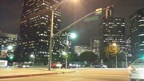 Nacht van stad bij nacht wordt geschoten die Stock Afbeelding