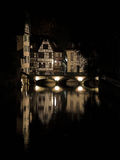Nacht van Straatsburg, Straatsburg, Frankrijk Stock Foto