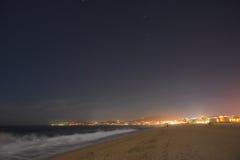 Nacht van strand bij San Jose Del Cabo wordt geschoten dat Stock Afbeelding