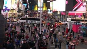 Nacht van Times Square wordt geschoten dat stock footage