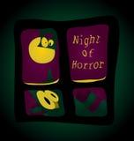 Nacht van verschrikking vector illustratie