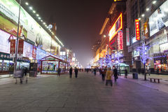 Nacht van Wangfujing Royalty-vrije Stock Afbeeldingen