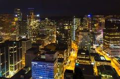 Nacht Vancouver Stockbild