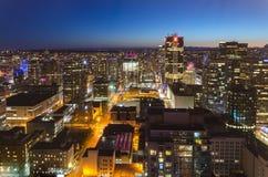 Nacht Vancouver Lizenzfreies Stockfoto