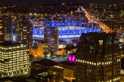 Nacht Vancouver Lizenzfreie Stockfotos