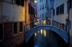 Nacht in Venedig Stockfotografie
