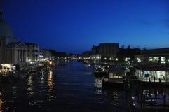 Nacht in Venetië Stock Foto