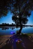 Nacht visserij Royalty-vrije Stock Fotografie