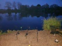Nacht visserij stock fotografie