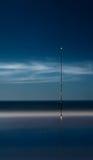 Nacht visserijoverzees Lange Blootstelling Royalty-vrije Stock Afbeelding