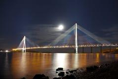 Nacht Vladivostok. Rusland Stock Foto