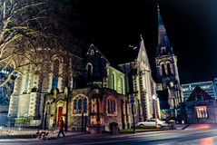 Nacht von Christchurch Lizenzfreies Stockbild