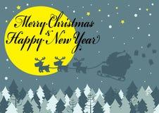 Nacht von frohen Weihnachten Lizenzfreie Stockbilder