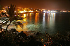 Nacht von Kona Stockbild