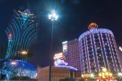 Nacht von Macao Lizenzfreies Stockbild
