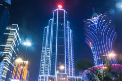 Nacht von Macao Lizenzfreie Stockbilder