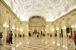 Nacht von Museen in Bukarest - Nationalmuseum der Kunst von Rumänien Lizenzfreie Stockbilder