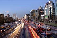 Nacht von Peking Lizenzfreie Stockfotos