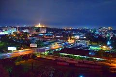 Nacht von Rangun Lizenzfreies Stockbild