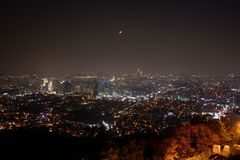 Nacht von Seoul Stockfotos