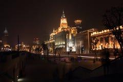 Nacht von Shanghai Stockbild
