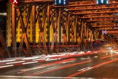 Nacht von Shanghai Stockfotografie